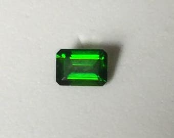 Chrome Diopside 7x5 mm, lovely green.