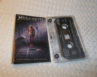 MEGADETH Cassette COUNTDOWN To EXTINCTION Audio Tape 1992 Symphony Of Destruction Heavy Metal Big 4 Metallica Slayer Anthrax related