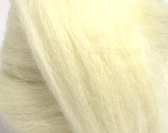 Undyed White Finnish Wool Combed Top/Roving by the Ounce or by the Pound