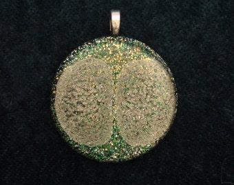 Golden Brain Third Eye Chakra-Tuning Blue Orgone 30mm Pendant 72 energy harmonizing crystals Quartz black cord silver chain