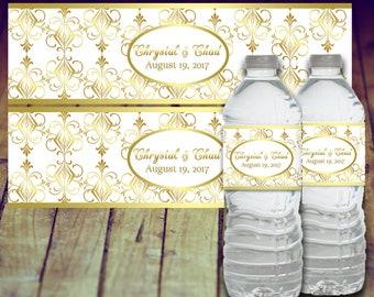 Water Bottle Label Wedding, Graduation Water Bottle Label, Personalized Water Bottle, Printable Water Bottle Label, Prom Water Bottle Label