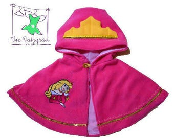 Baby Princess Aurora inspired Pocahontas Poncho/Cape (can be personalised)