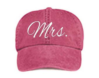 Mrs. Baseball Style Hat/Cap/Bridal/Wedding/Special Activities/Parties/Showers/Bachelorette Parties/Honeymoon