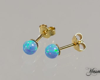 Opal turquoise in sterling gold plated