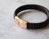 Leather Personalised Bracelet  Mens Bracelet  Leather Bracelet  Engraved Leather Bracelet  Mens Jewelry