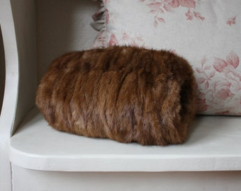 Vintage Real Fur Muff Hand-Warmer
