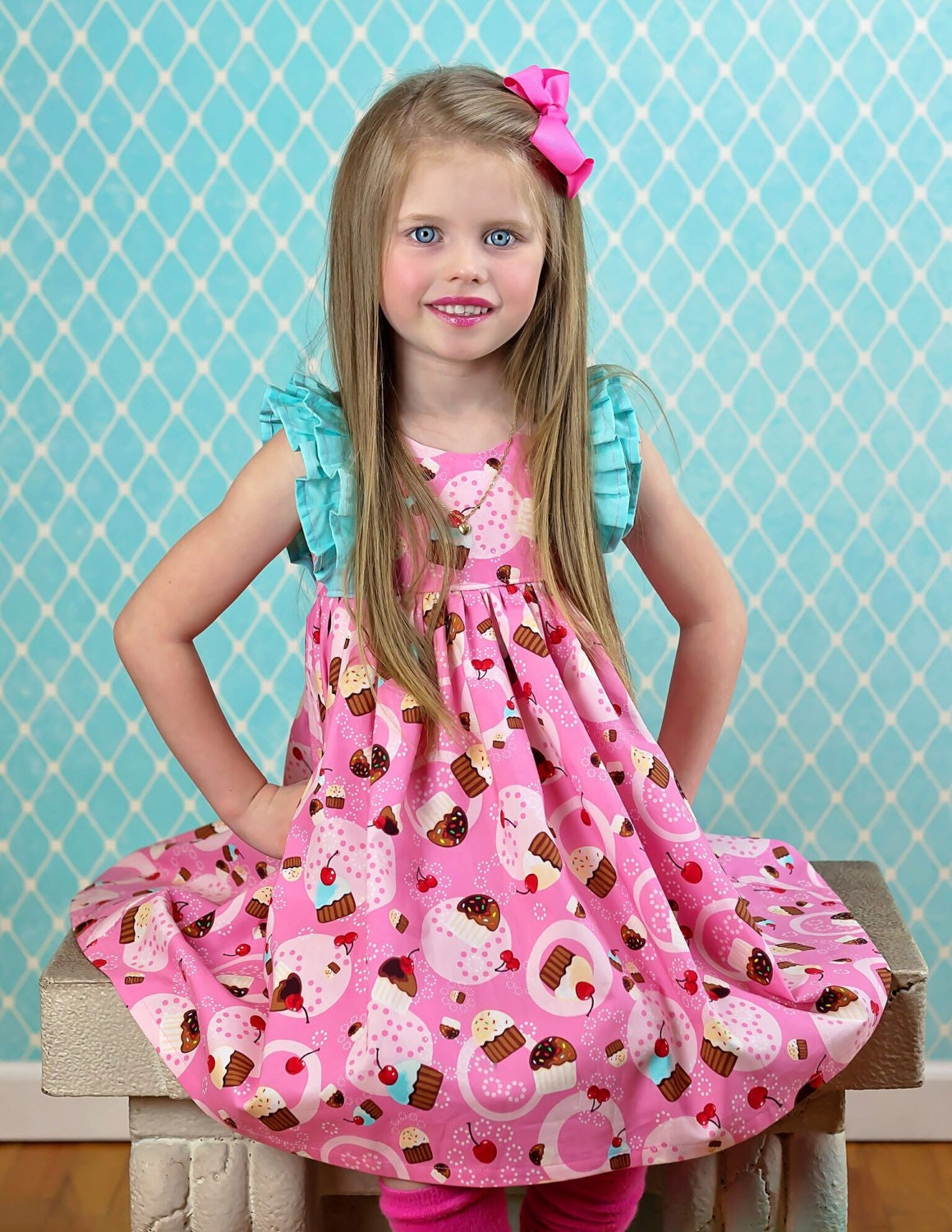 Girls Cupcake Dress - Girls Birthday Dress - Girls Party Dress ...