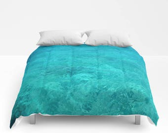Duvet Cover or Comforter - Twin, Full, Queen, King, Size, Bedroom, Home, Decor, Abstract, Water, Turquoise, Ocean, Shams, Aqua, Teal, Navy