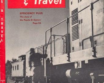 Trains & Travel, Feb. 1953, Scarce Vintage Train Railroad Railroads Magazine!