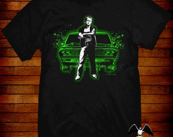 Repo Man T-shirt  design by Jared Swart inspired by the 1984 cult scifi punk movie S M L XL 2XL 3XL 4XL 5XL also in Ladies fit S-2XL