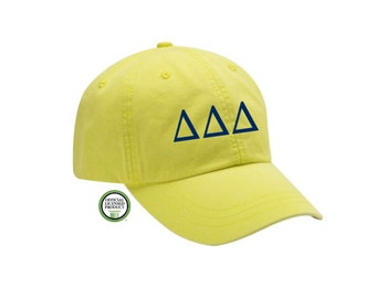 Delta Delta Delta Embroidered Hat, Baseball Cap, Sorority Hat, Sorority gift, Big Little Gift, Delta Delta Delta Gift, Tri Delta Hat