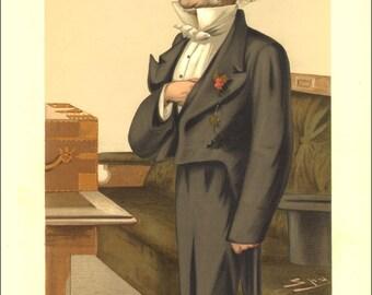 William Gladstone  1879 : Vanity Fair Print / Lithograph