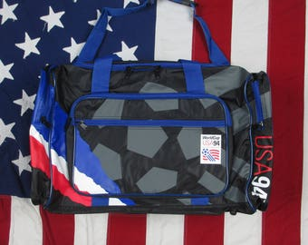 Vintage Deadstock 1990's Team USA World Cup 1994 Duffle Bag w/ Tags in Original FIFA Football Soccer