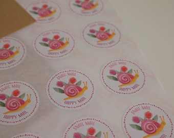 Snail mail - 12 stickers