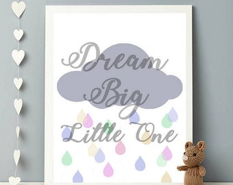 Nursery 'Dream Big Little One' Print | Nursery print | Baby's room | Kid's Room | Baby room decor | Baby print | Child's room print | Kids