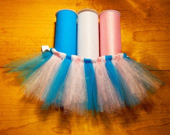 Cotton Candy Sparkle Custom Tutu - pink shimmer, turquoise & white sparkle tulle dog tutu