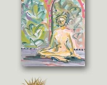 Figurative Painting, Abstract Portrait Painting, canvas,  woman portrait