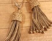 Vintage Tassel Earrings 14k Gold