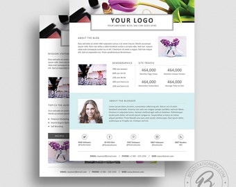 3 Page Media Kit Template 05 - Ad Rate Sheet Template - Press Kit Template - Pitch kit - Media Kit Template