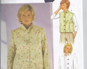Butterick 3013 Sewing Pattern from 2001. Sandra Betzina Design- Misses Jacket and Vest Bust 32-36 UNCUT