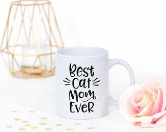 Cat Mom Mug - Best Cat Mom Ever Mug - Cat Mugs - Cat Lover Gift - Cat Mom Gift - Cat Coffee Mug - Best Cat Mom  - Cat Coffee Cup - Mom Mug
