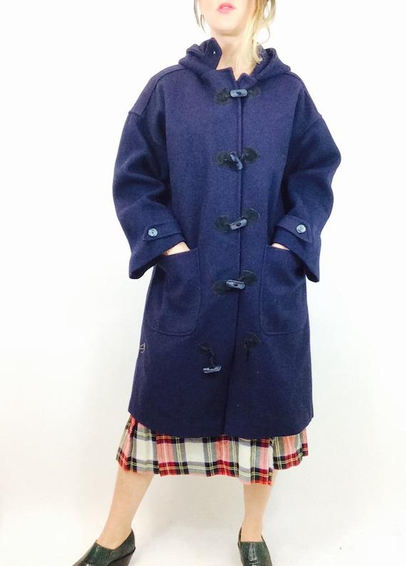 Vintage wool duffle coat navy duffle coat vintage duffle coat