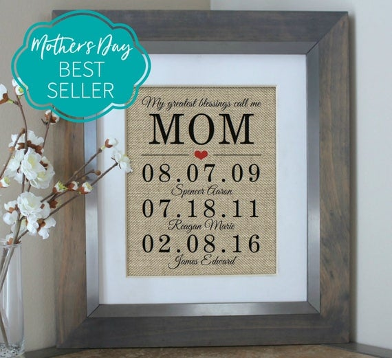 Mothers Day Gift, Mothers Day from Daughter, Mothers Day Gift Idea, Mothers Day from Husband, Mother of the Bride Gift, Mothers Day from Son