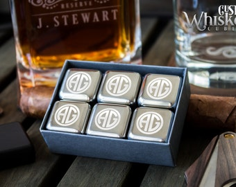 Personalized Whiskey Stones – Engraved Whiskey Stones, Stainless Steel Ice Cubes
