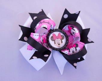 girl hair bow,  Princess hair bow, Minnie  girl hair bow, Minnie birthday  bow,  princess  hair bow, Minnie Mouse  bow
