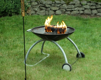 Happy Camper Outdoor Fire Pit Poker