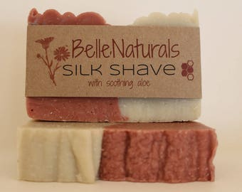 Silk Shave - with soothing aloe, Bentonite & Rose Kaolin Clay Shave Bar