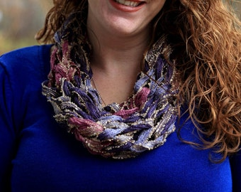 Romantic, Infinity Cowl Scarf, soft