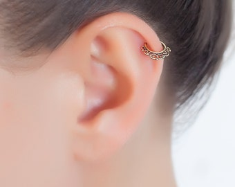 Helix earring. cartilage hoop. cartilage earring. helix hoop. helix piercing.