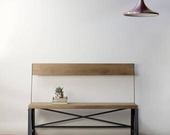 KONK! Industrial Bench - Seat, Chic, reclaimed, cafe, restaurant dining,  1200mm