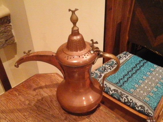 TURKISH COFFEE POT - Copper pot - Moroccan pot - Islamic - Vintage - hand crafted