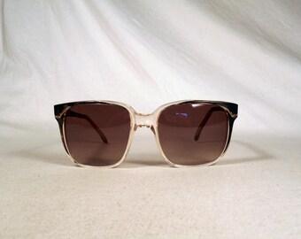 fabulous vintage sunglasses lunettes EMMANUELLE KHANH carved frame france