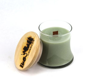 Green Tea - Soy Candle, Woodwick Candles, Scented Candles, Soy Wax, Handmade Candles, Green Tea Candle, Wood Wick Candle, Tea Scented Candle