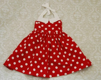 Minnie Mouse Inspired Girls Dress, Toddler Dress, Boutique Clothing, Ginger Dress