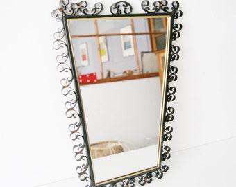 50 mirror, wall mirror, iron mirror