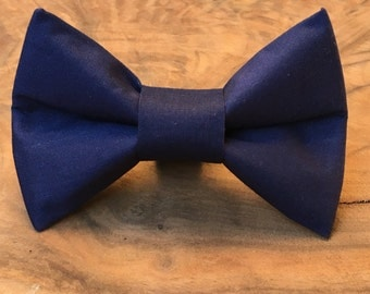 Navy Blue Dog Bows, Navy Dog Bow Ties, Navy Bowties, Navy Dog Bowties, Blue Dog Bowties, Wedding Dog Bowties, Elastic Dog  Bow Ties