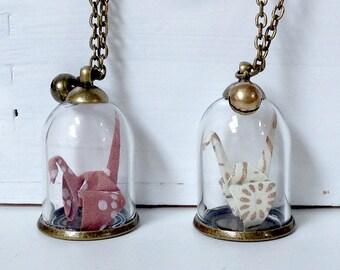 Japanese origami necklace
