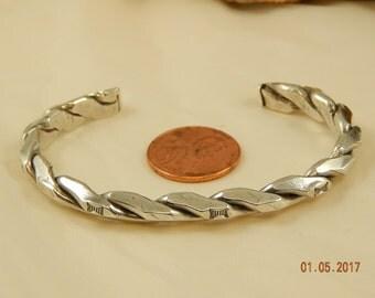 Heavy 24 gram Sterling Silver Cuff Bracelet