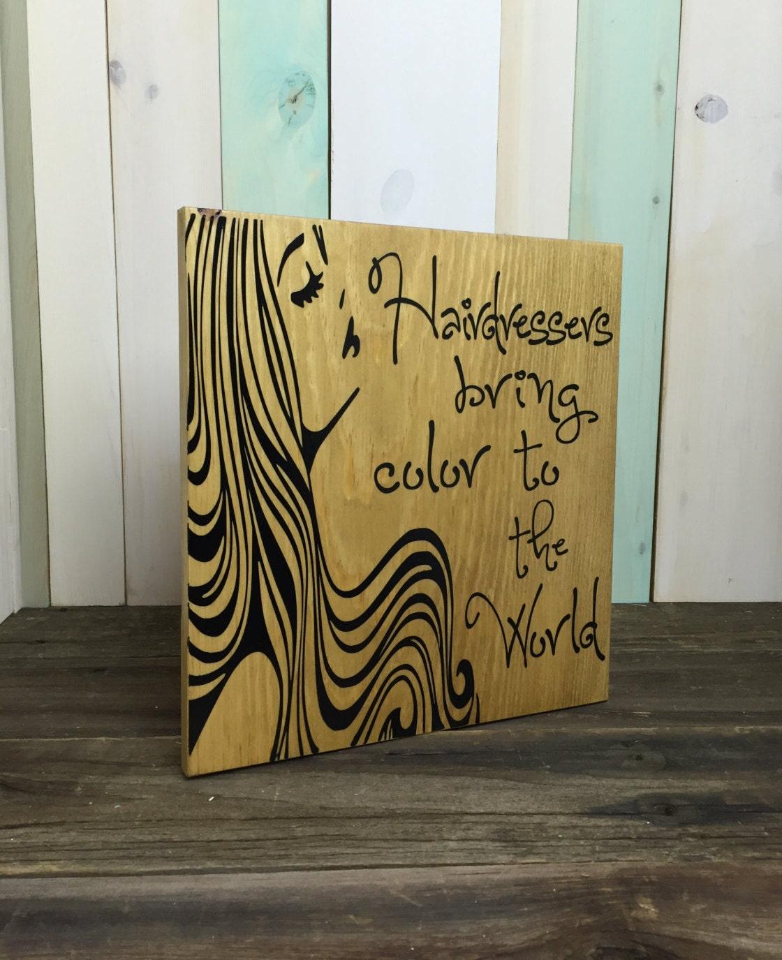 Hair stylist christmas ornaments - Hairdresser Sign Hair Stylist Sign Salon Sign Wood Sign Wooden Sign