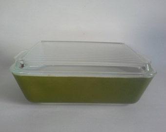 Pyrex Verde 1.5 QT Covered Refrigerator Dish #503