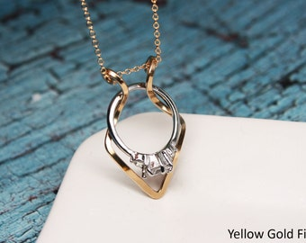 Ring holder necklace etsy for Wedding ring necklace