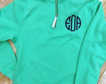 Monogrammed Quarter Zip Pullover - Womens Charles River Sweatshirt - Personalized Gift - Womens Monogrammed Gift - Teen Gift
