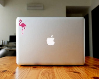 Flamingo Vinyl Decal, Summer Theme Laptop Sticker, Nautical Cup Decal, Beach Car Decal, Water Bottle Decal, Valentine's Day Decal