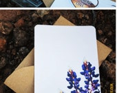 Big Bend Bluebonnets Desert Wildflower - Personalized Stationary Set - Flat Note Cards - Gift Set - Handmade Floral - Made in Texas