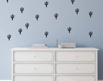 Cactus shape wall decals, vinyl wall decal stickers 54 per pack