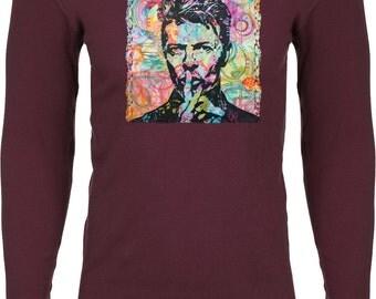 Men's David Bowie Profile Thermal Shirt 20820NBT0-N8201